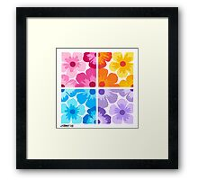 SMOOTH PAINTED FLOWERS Framed Print