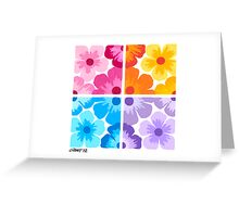 SMOOTH PAINTED FLOWERS Greeting Card