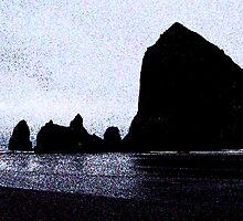 Haystack Rock by wandringeye