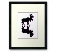 old moose Framed Print