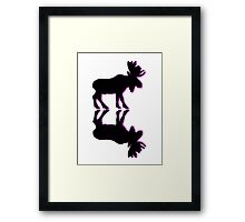 old moose Framed Print