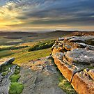 Last Light at Stanage Edge by Mat Robinson