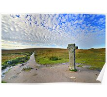 Dartmoor Crosses Series: Early Morning at Nun's Cross  Poster