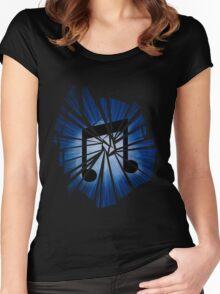 Vinyl scratch Explosion Women's Fitted Scoop T-Shirt