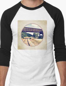 Railroad Tracks And Trestle Men's Baseball ¾ T-Shirt