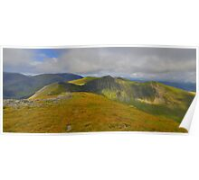 The Lake District: Heading to Hopegill Head Poster