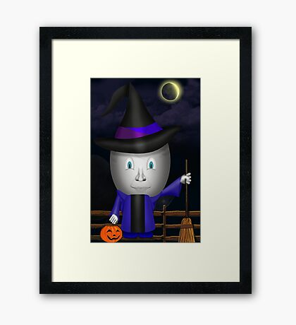 Have A EGGciting Halloween! Framed Print