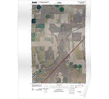 USGS Topo Map Washington State WA Ritzville NE 20110401 TM Poster