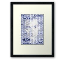 Dr Who 10th David Tennant Typography Framed Print