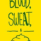 blood sweat and pie [green] by gomooink