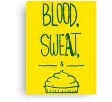 blood sweat and pie [green] Canvas Print