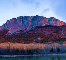 Yamnuska Mountain at 6 am by Yukondick