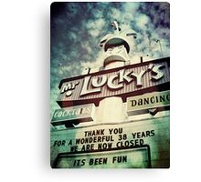 Mr. Lucky's Canvas Print