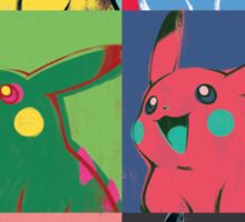 Warhol Pikachu Sticker