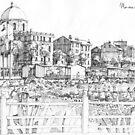 Spiagge a Pegli B&W by Luca Massone  disegni