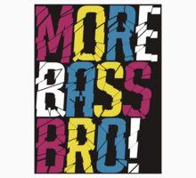More Bass Bro (black) Kids Clothes