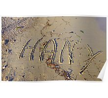 Hany In The Sands Of Beaulieu Sur Mer Poster