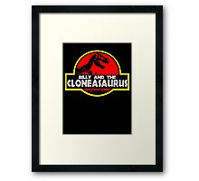 Billy and the cloneasaurus - The Simpsons Cartoon Framed Print