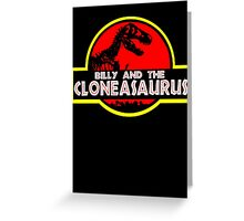 Billy and the cloneasaurus - The Simpsons Cartoon Greeting Card