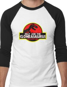 Billy and the cloneasaurus - The Simpsons Cartoon Men's Baseball ¾ T-Shirt