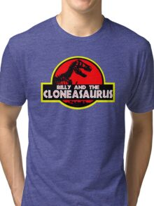 Billy and the cloneasaurus - The Simpsons Cartoon Tri-blend T-Shirt