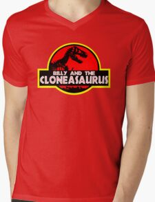 Billy and the cloneasaurus - The Simpsons Cartoon Mens V-Neck T-Shirt