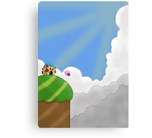 Kirby on Mt. Dedede Canvas Print