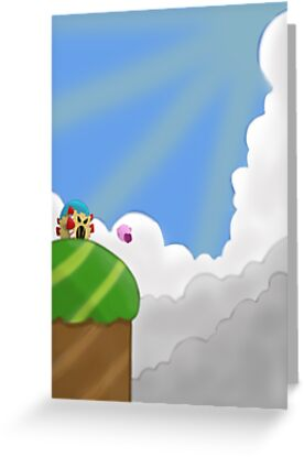 Kirby on Mt. Dedede by ColinSM