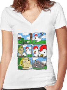 Cucco Wars Women's Fitted V-Neck T-Shirt