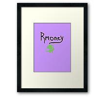 Mitt Romney Rmoney  2012 Framed Print