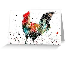 Birds in INK ~ Chicken Greeting Card
