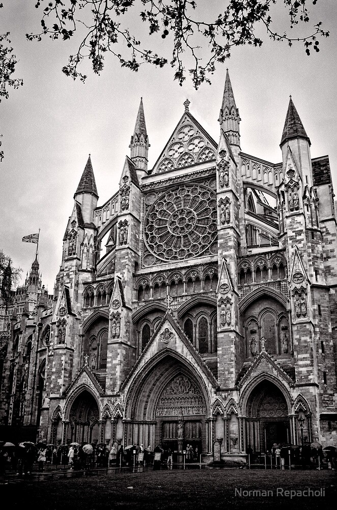 Dampened Faithful - Westminster - London - Britain by Norman Repacholi