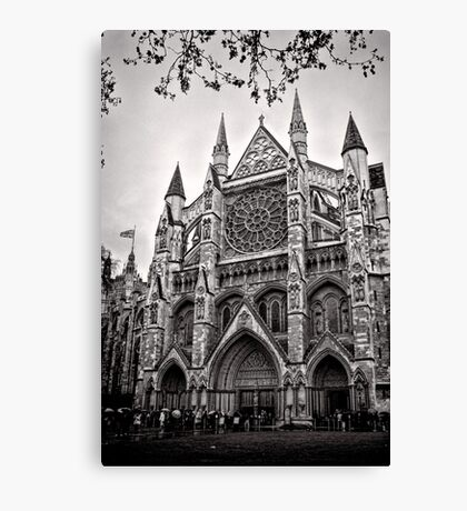 Dampened Faithful - Westminster - London - Britain Canvas Print