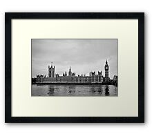 Houses with a view of the water - London - Britain Framed Print