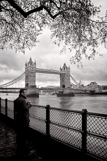 Enjoying the view - Tower Bridge - London - Britain by Norman Repacholi