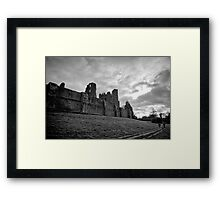 Walking and wondering of the walls that were - Kenilworth - Britain Framed Print