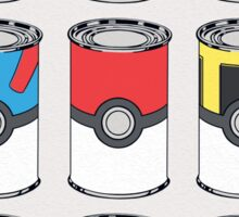 Pokeball Soup Cans Sticker