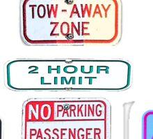 Parking Sign Jewels Sticker