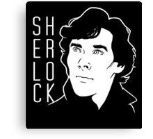 Sherlock Minimal Canvas Print