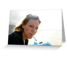Light up my cigarette Greeting Card