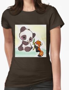 Cute Pandas  Womens Fitted T-Shirt