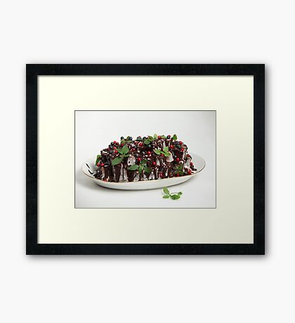 homemade Chocolate cake Framed Print