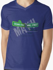 Sesame Street Math Mens V-Neck T-Shirt