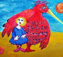 Cusp Cuspschen's 'Girl and Big Bird' by Art 4 ME