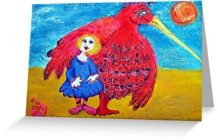 Cusp Cuspschen's 'Girl and Big Bird' by Art 4 ME