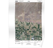USGS Topo Map Washington State WA Sagebrush Ridge 20110407 TM Poster