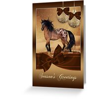 Winter Horse Christmas Holiday Greeting Card Greeting Card