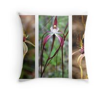 Three Native Orchids of Western Australia Throw Pillow