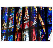 Stained Glass - Saint Andrew's Cathedral   Poster