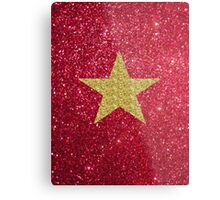 Sparkly gold star:) Metal Print